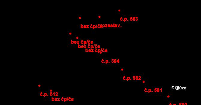České Budějovice 7 584, České Budějovice na parcele st. 1242 v KÚ České Budějovice 7, Katastrální mapa
