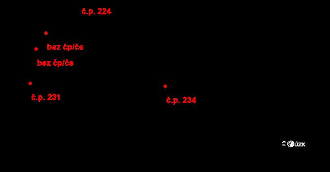 Dražkovice 234, Pardubice na parcele st. 639 v KÚ Dražkovice, Katastrální mapa