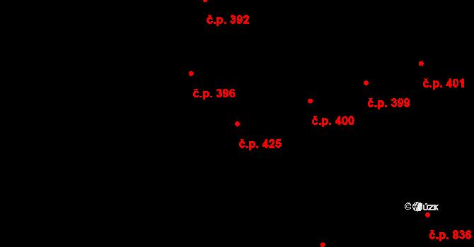 Hradec Králové 425 na parcele st. 494 v KÚ Hradec Králové, Katastrální mapa