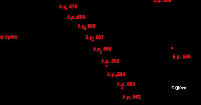 Studánka 565, Pardubice na parcele st. 681 v KÚ Studánka, Katastrální mapa