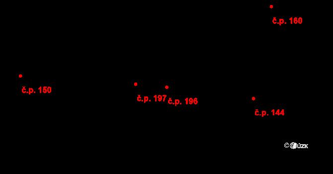 Pohled 196 na parcele st. 286 v KÚ Pohled, Katastrální mapa