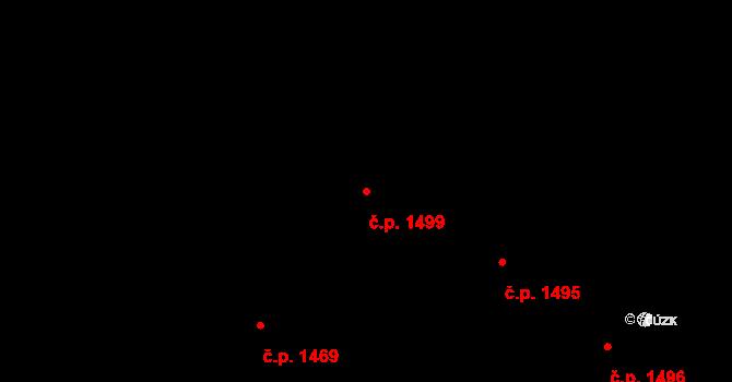 Holešovice 1499, Praha na parcele st. 612/4 v KÚ Holešovice, Katastrální mapa