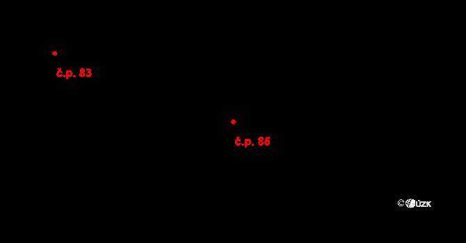 Dubno 85 na parcele st. 315/9 v KÚ Dubno, Katastrální mapa
