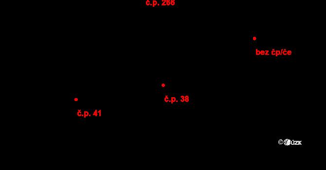 Francova Lhota 38 na parcele st. 62/1 v KÚ Francova Lhota, Katastrální mapa