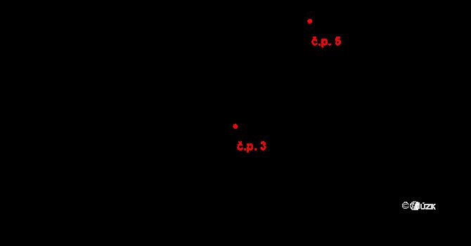 Albrechtice 3 na parcele st. 47/3 v KÚ Albrechtice u Lanškrouna, Katastrální mapa