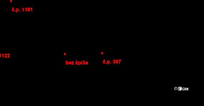 Smržovka 397 na parcele st. 3207/1 v KÚ Smržovka, Katastrální mapa