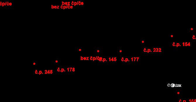Prštné 145, Zlín na parcele st. 236 v KÚ Prštné, Katastrální mapa