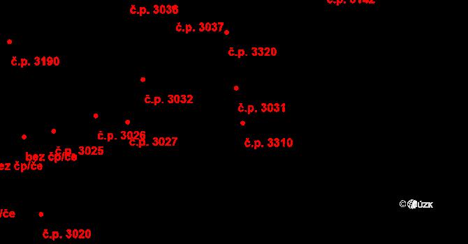 Boršov 3310, Kyjov na parcele st. 464/1 v KÚ Boršov u Kyjova, Katastrální mapa
