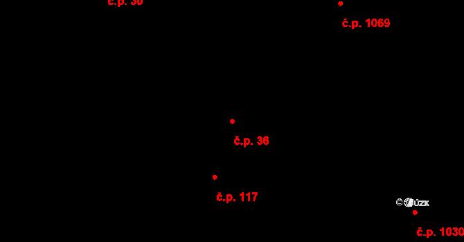Blatná 36 na parcele st. 56 v KÚ Blatná, Katastrální mapa