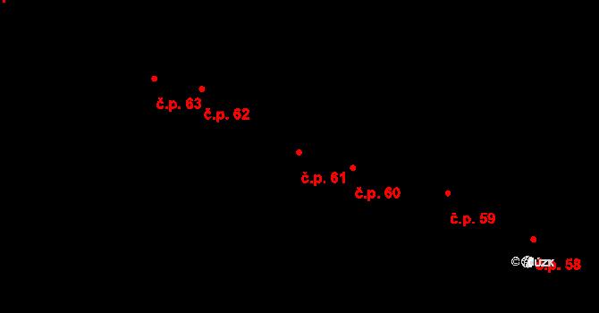 Staré Hory 61, Jihlava na parcele st. 135 v KÚ Staré Hory, Katastrální mapa