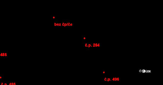 Kamýk 284, Praha na parcele st. 345/218 v KÚ Kamýk, Katastrální mapa