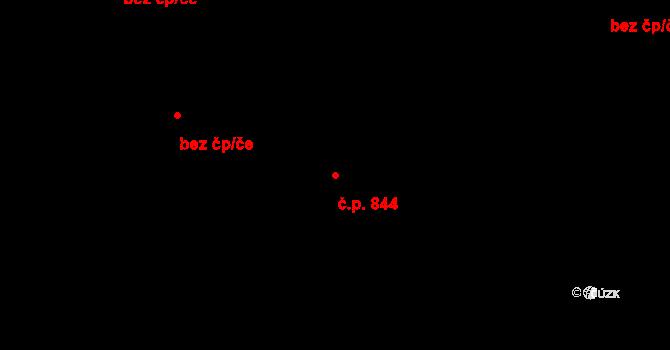 Kukleny 844, Hradec Králové na parcele st. 2220/2 v KÚ Kukleny, Katastrální mapa