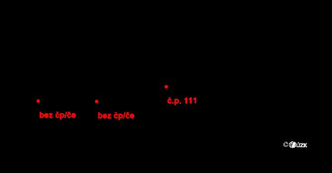 Strážkovice 111 na parcele st. 358 v KÚ Strážkovice, Katastrální mapa