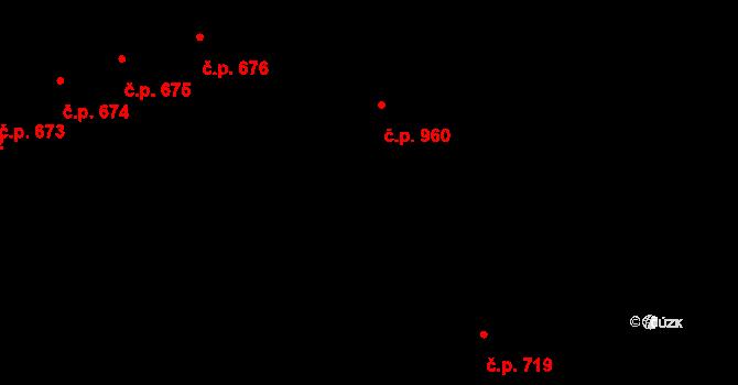 Veveří 960, Brno na parcele st. 1114/1 v KÚ Veveří, Katastrální mapa