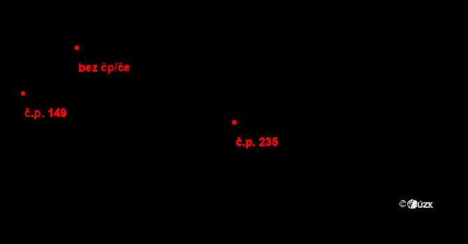 Horní Ředice 235 na parcele st. 253/1 v KÚ Horní Ředice, Katastrální mapa