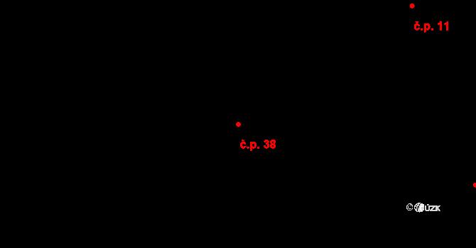 Horní Lhota 38 na parcele st. 107 v KÚ Horní Lhota u Ostravy, Katastrální mapa