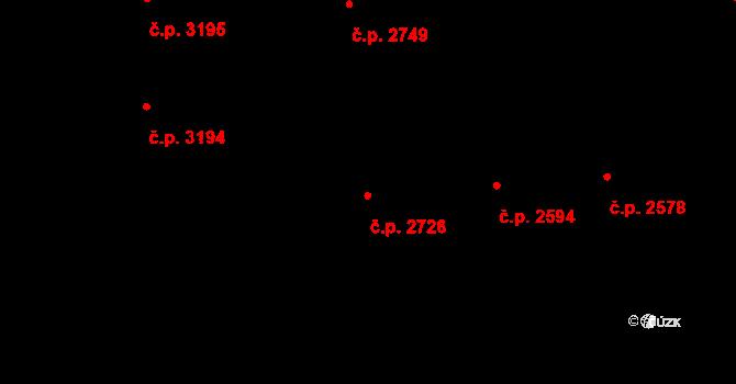 Havlíčkův Brod 2726 na parcele st. 1917 v KÚ Havlíčkův Brod, Katastrální mapa