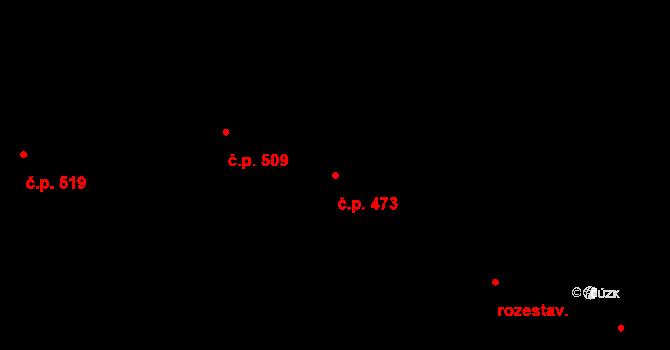 Mladcová 473, Zlín na parcele st. 848 v KÚ Mladcová, Katastrální mapa