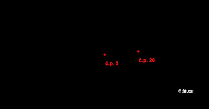 Dolní Bezděkov 3, Bratronice na parcele st. 133/1 v KÚ Dolní Bezděkov u Kladna, Katastrální mapa