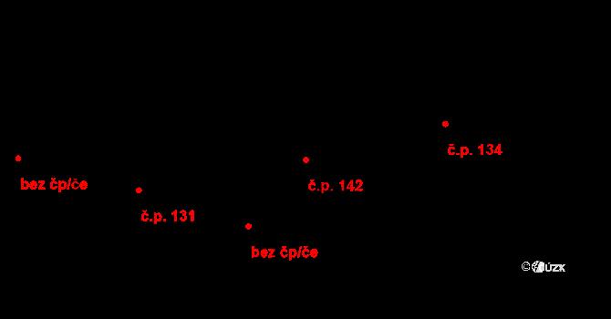 Studánka 142 na parcele st. 172/2 v KÚ Studánka u Tachova, Katastrální mapa