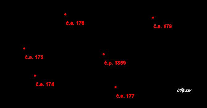 Rožnov pod Radhoštěm 1359 na parcele st. 1470 v KÚ Rožnov pod Radhoštěm, Katastrální mapa
