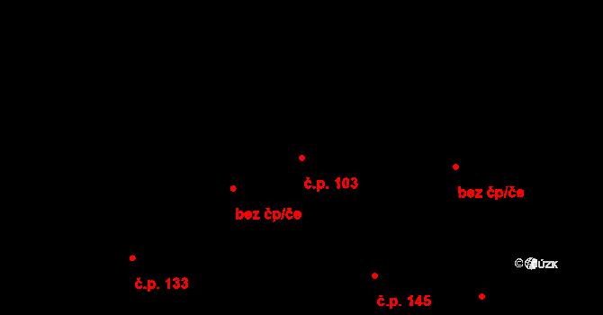 Lochkov 103, Praha na parcele st. 329 v KÚ Lochkov, Katastrální mapa