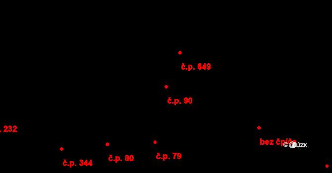 Žižkov 90, Praha na parcele st. 490 v KÚ Žižkov, Katastrální mapa