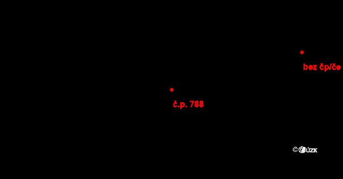 Horní Těrlicko 788, Těrlicko na parcele st. 3913 v KÚ Horní Těrlicko, Katastrální mapa