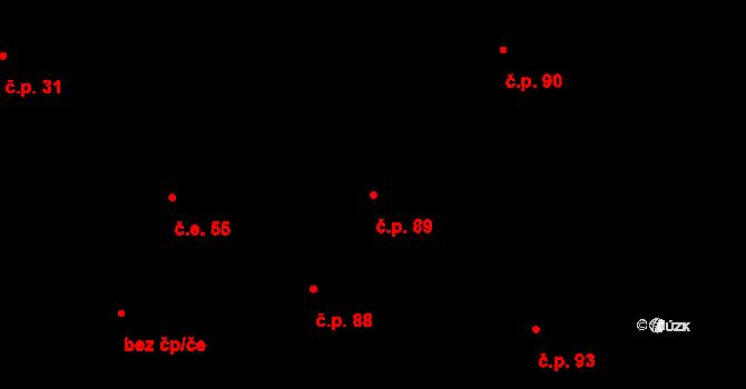 Březno 89 na parcele st. 161 v KÚ Březno u Chomutova, Katastrální mapa