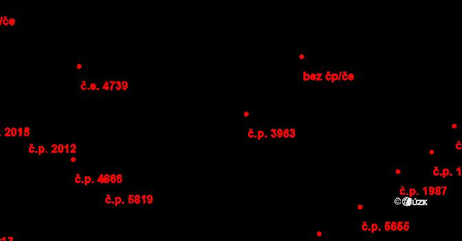 Jihlava 3963 na parcele st. 4170/4 v KÚ Jihlava, Katastrální mapa