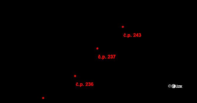 Stará Ves 237 na parcele st. 676/23 v KÚ Stará Ves u Přerova, Katastrální mapa