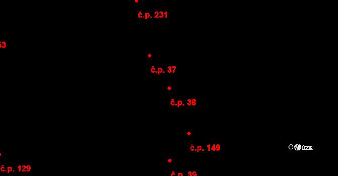 Tvarožná Lhota 38 na parcele st. 139/1 v KÚ Tvarožná Lhota, Katastrální mapa
