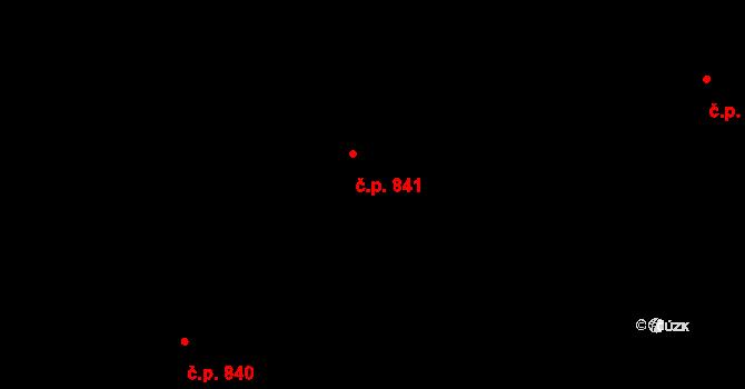 Liberec XII-Staré Pavlovice 841, Liberec na parcele st. 712/11 v KÚ Staré Pavlovice, Katastrální mapa