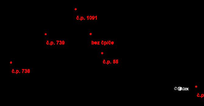Poruba 55, Orlová na parcele st. 847 v KÚ Poruba u Orlové, Katastrální mapa