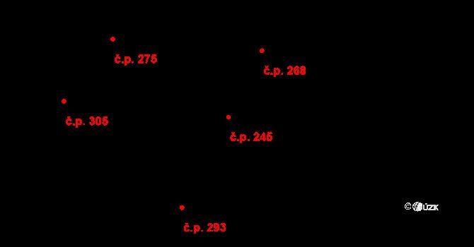 Vtelno 245, Most na parcele st. 469 v KÚ Vtelno, Katastrální mapa