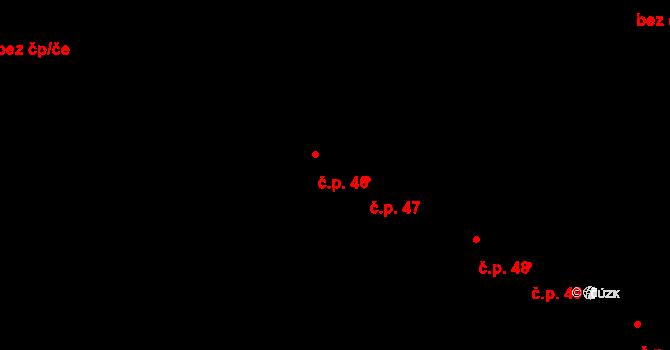 Václavy 46 na parcele st. 52 v KÚ Václavy, Katastrální mapa