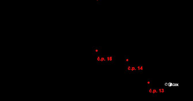 Zboží 15, Habry na parcele st. 33 v KÚ Zboží, Katastrální mapa