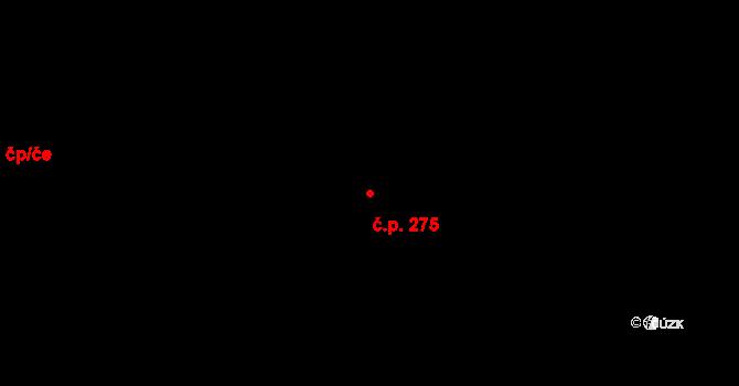 Zlín 275 na parcele st. 3292 v KÚ Zlín, Katastrální mapa