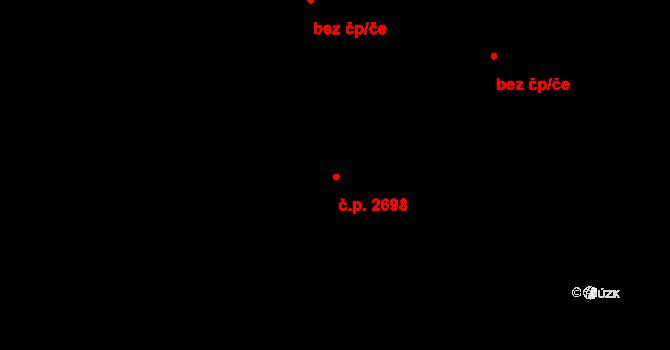 Východní Předměstí 2698, Plzeň na parcele st. 5586/12 v KÚ Plzeň 4, Katastrální mapa