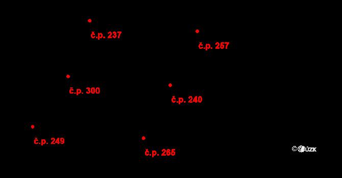 Vtelno 240, Most na parcele st. 482 v KÚ Vtelno, Katastrální mapa
