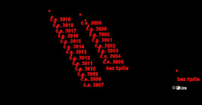 Jihlava 3905 na parcele st. 5332/22 v KÚ Jihlava, Katastrální mapa