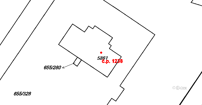 Mladá Boleslav II 1238, Mladá Boleslav na parcele st. 5861 v KÚ Mladá Boleslav, Katastrální mapa