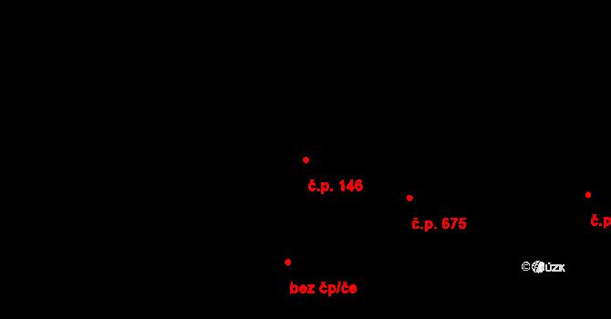 Prštné 146, Zlín na parcele st. 201/1 v KÚ Prštné, Katastrální mapa