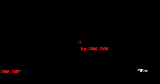 Most 2839,2840 na parcele st. 5105 v KÚ Most II, Katastrální mapa