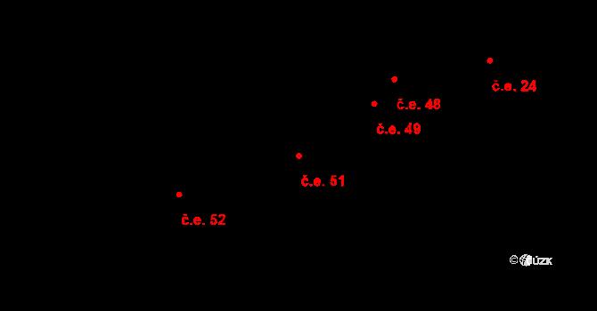 Staré Sedlo 51, Orlík nad Vltavou na parcele st. 255 v KÚ Orlík nad Vltavou, Katastrální mapa