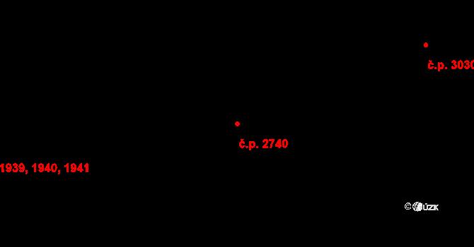 Královo Pole 2740, Brno na parcele st. 3655/1 v KÚ Královo Pole, Katastrální mapa