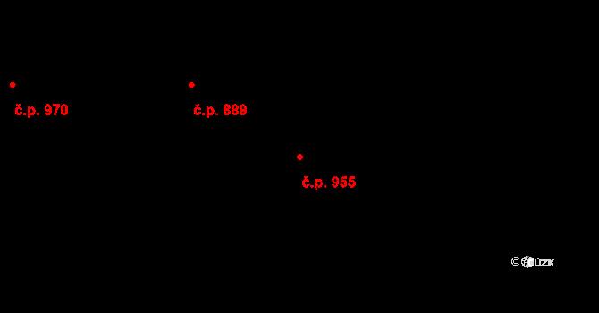 Heřmanice 955, Ostrava na parcele st. 1964 v KÚ Heřmanice, Katastrální mapa
