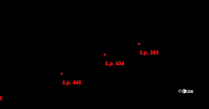 Vokovice 434, Praha na parcele st. 903 v KÚ Vokovice, Katastrální mapa