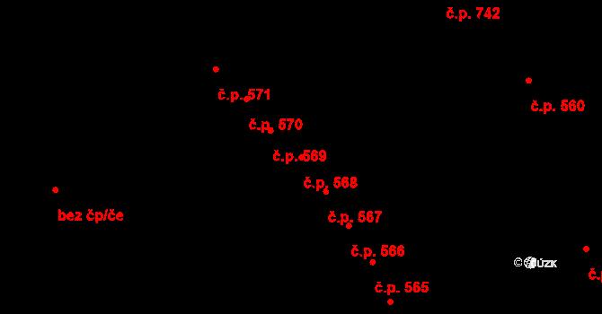 Studánka 568, Pardubice na parcele st. 684 v KÚ Studánka, Katastrální mapa