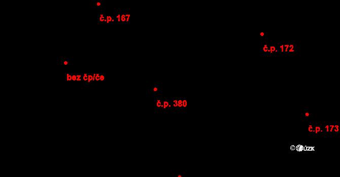 Ohrazenice 380, Pardubice, Katastrální mapa